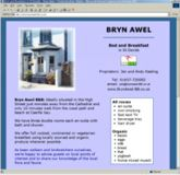 web site - www.brynawel-BB.co.uk  -  Bed and Breakfast Establishment