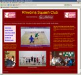 web site - www.RhiwbinaSquashClub.co.uk - Sporting Organisation