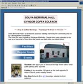 web site - www.solvamemorialhall.co.uk - Venue
